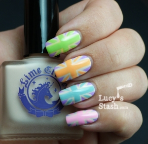 Pastel Union Jacks nail art manicure 2